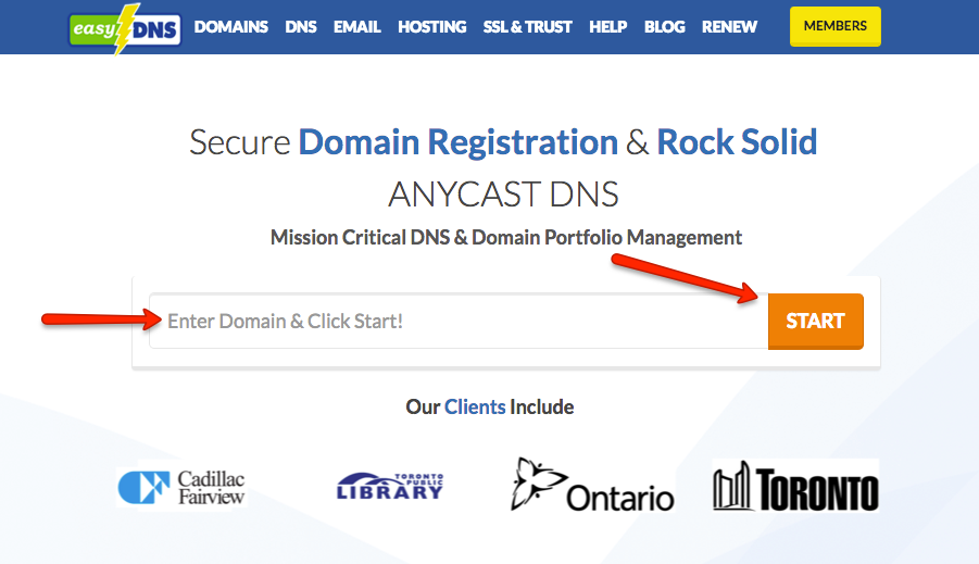 how to add domain for dns service with easyDNS