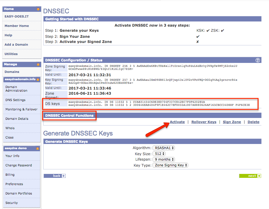 DNSSEC with easyDNS