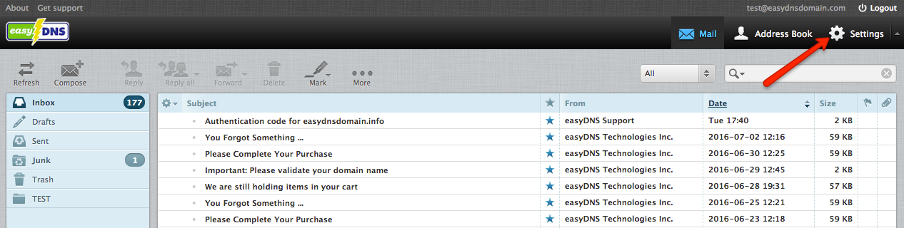 easyMail webmail signatures with easyDNS