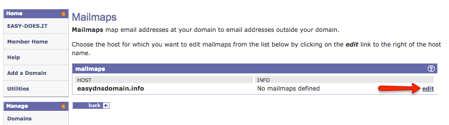 creating mailmaps with easyDNS