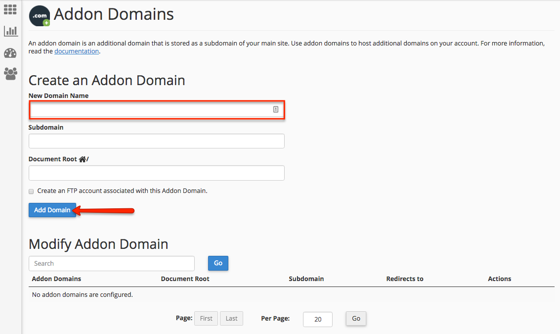 how to add additional domain to existing easyweb subscription