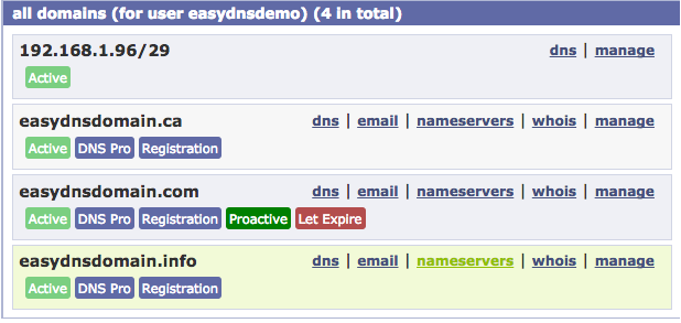 how to set your domain name to expire with easyDNS