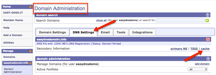 how to enable secondary dns with easyDNS