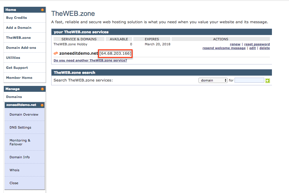 how to enter your easyweb ip address in zoneedit.